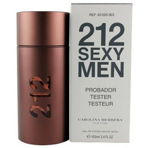 Perfume 212 Sexy Men 100ml Carolina Herrera Original Tester