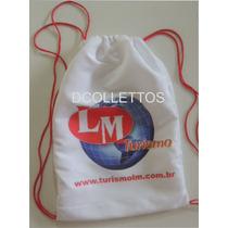 Mochilinhas Bolsinhas Sacola Personalizadas Kit C.30pç 30x40