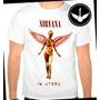 Camiseta Nirvana In Utero Baby Look Regata Banda Rock Camisa