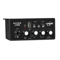 Mixer Som Automotivo Boog Entrada Usb - P2 Para Microfone-