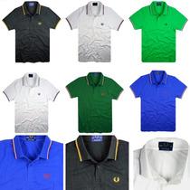 Camiseta Polo Fred Perry - 8 Cores - 100% Original