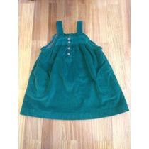 Vestido Zara Infantil De Veludo Cotelê De 12 A 18 Meses