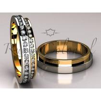 Aliança Em Ouro 18k E Diamantes. Casamento, Noiva, Joias
