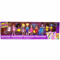 Boneca Polly Pocket Festa A Fantasia Kit 4 Bonecos - Mattel