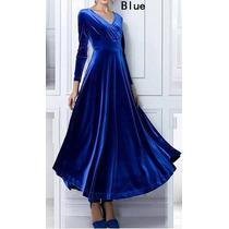 Vestido Azul Para Eventos Sociais - Manequim 44/46
