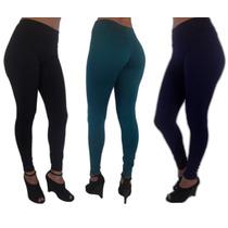 Calça Legging Suplex Com Cós Alto 8 % De Coton Promoção