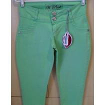 Linda E Diferente Coleção Nova Calça Jeans W Pink Verde