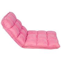 Cadeira Estofada De Chão Suede Rosa Fullway