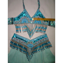 Roupa Odalisca Dança Ventre Comp. Infantil 97,00 At. Sonia