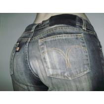 Disritmia Dta Calça Capri Jeans Sem Strech Cintura Baixa/ 38