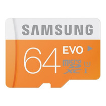 Cartão Samsung Micro Sdxc Evo 64gb 48mb/s Uhs-1 Sd Original
