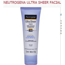 Protetor Solar Neutrogena Ultra Sheer Facial Fator 70 Fps