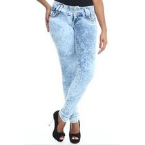 Calça Sawary Jeans Feminina Legging Desbotada Clara C/bojo