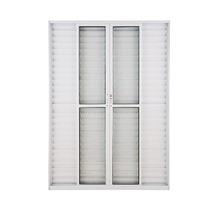 Porta Balcão 2,10 X 2,00 - 6 Folhas Branca Com Trinco