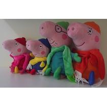 Peppa Pig Família Completa Roupa De Inverno / Pronta Entrega