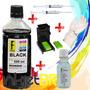 550ml Tinta Preta Recarga Cartuchos Impressora Hp + Snap +