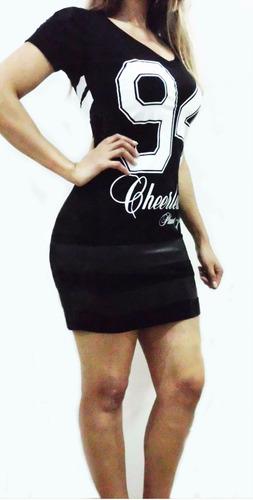 abbbe2e4a Vestido College (esportivo) Planet Girls C/ Detalhe Em Couro R$79 ...