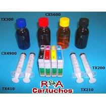 Kit Recarregavel Cx 5600/tx200/210.....c/ Tinta Pigmentada
