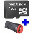 Cartão Memória Micro Sd 16gb + Leitor P/ Tablet Galaxy Ipad