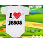 I Love Jesus Eu Amo Jesus Body Evangélico Gospel