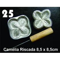 Frisador Modelagem De Flores Tecidos Eva Camélia Riscada 25