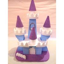 Frozen - Castelo - Enfeite De Mesa Para Festas Isopor