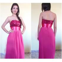 Vestido Rosa Lindo Para Madrinha Casamento Formatura