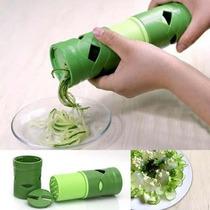 Descascador Espiral Verduras Legumes Fatiador Cortador 3 X 1