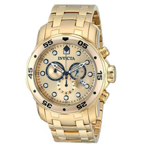 Invicta 0074 Pro Diver Chronograph 18k Ouro