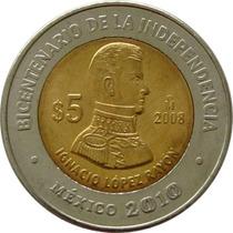 México - 5 Pesos 2008 (lopez Rayon)