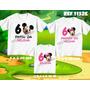 Kit Camisetas Tal Mãe Tal Pai Tal Filho Mickey Minnie Disney