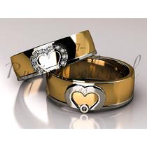 Aliança De Casamento, Luxo, Top Design. Diamantes