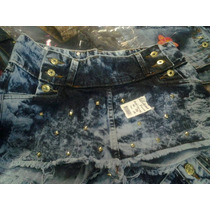 Short Saia Jeans Destroyed Por R$ 33,00 Reais