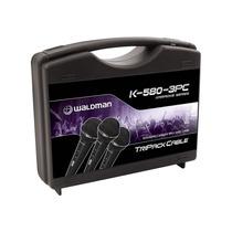 Kit Microfone Dinâmico Waldman K580 - 3 Mics C/ Case Maleta