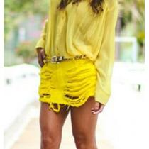 Shorts Saia Degrant Amarela Tamanho 44