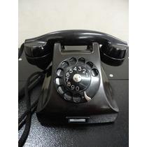 Telefone Antigo Dbh Ericsson Preto Da Década De 30
