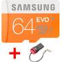 Cartão Memória Samsung Evo Micro Sd Hc 64gb Classe 10 48mbs
