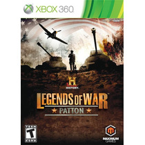 Jogo Novo Ntsc History: Legends Of War Patton Para Xbox 360