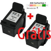 Cartucho Hp 92 Psc1510 C3100 C3180 C4180 Um Cartucho Grátis