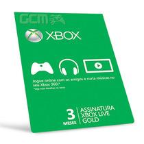 Xbox Live Gold Br Usa Cartão 3 Meses - Preço Imbativel