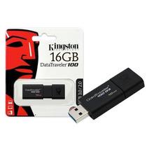 Pen Drive Kingston Dt 100 G3 16gb - Preto Usb 3.0 Dt100g3/16