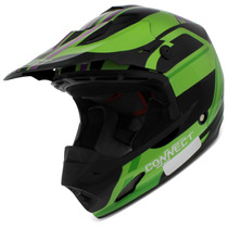 Capacete Cross Pro Tork Th1 Connect Jungle Preto Trilha 56