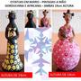 2 Estatuetas Em Barro - Africana E Gorduchinha - Pint. A Mão