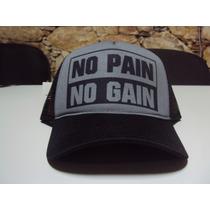 Boné No Pain No Gain Diversas Cores Snapback Frete Grátis