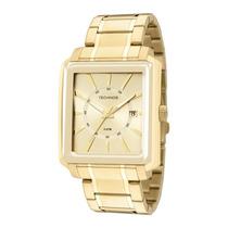 Relógio Masculino Technos Dourado Quadrado Classic 2315yt/4x