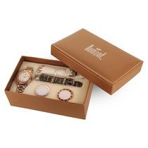 Kit Relógio Dumont Vip Com 3 Pulseiras Feminino Sk75039b