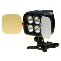 Iluminador Sun Gun De 4 Leds Para Câmeras Dlsr E Filmadoras