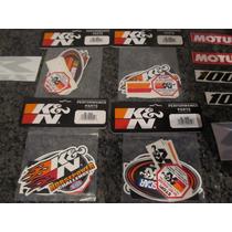 Kit Adesivos K&n Usa Originais 8 Un. Kn Filtro Frete Grátis