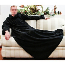 Cobertor Com Mangas Em Soft - Adulto - Preto - Endy V