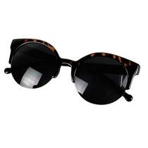 Oculos Escuros De Sol Vintage Cat Eye Leopard Retro